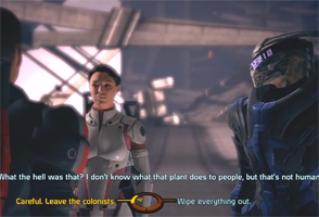 Mass Effect - renegade choice