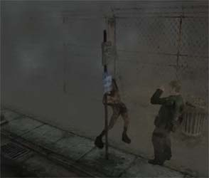 Silent Hill 2 - taking damage at melee
