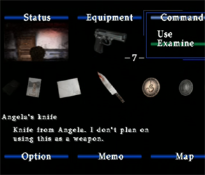 Silent Hill 2 - examining knife