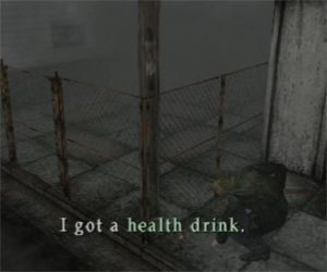 Silent Hill 2 - health drink in the streets