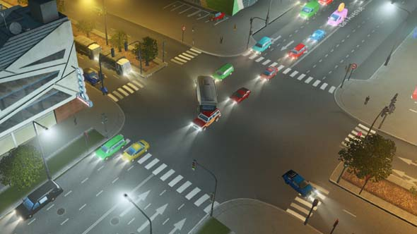 Cities Skylines - busy intersection