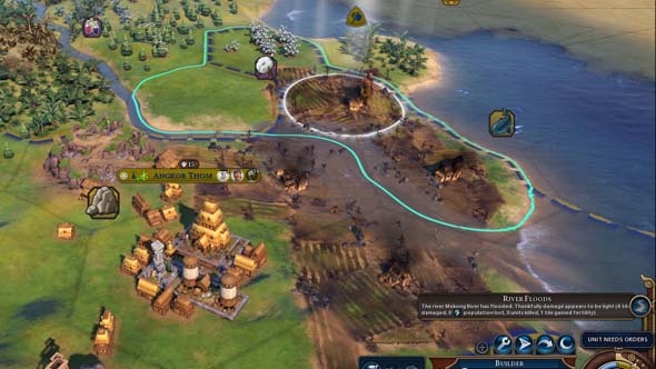 Civilization VI Gathering Storm - disaster clean-up Builder