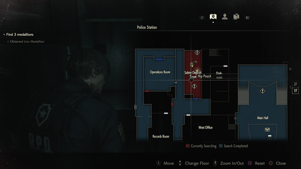 Resident Evil 2 - map icons