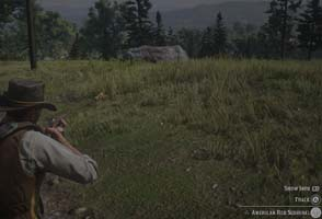 Red Dead Redemption II - hunting squirrel