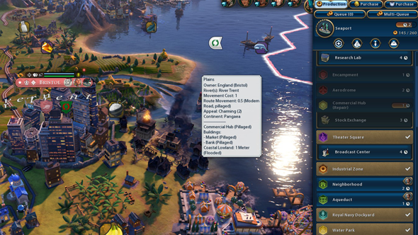Civilization VI Gathering Storm - flooded tiles