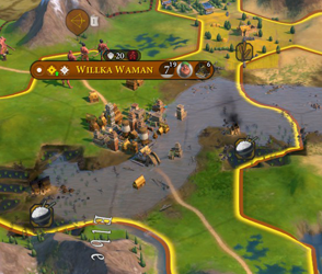 Civilization VI Gathering Storm - river flood