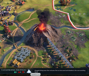 Civilization VI Gathering Storm - volcano