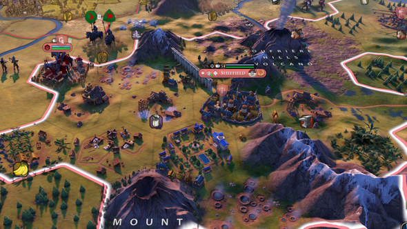 Civilization VI Gathering Storm - flood, aqueduct, and encampment