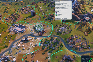 Civilization VI Gathering Storm - railroad through district