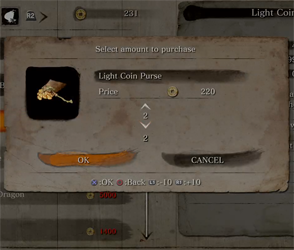 Sekiro - buying coin purse