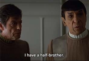 Star Trek V - half brother