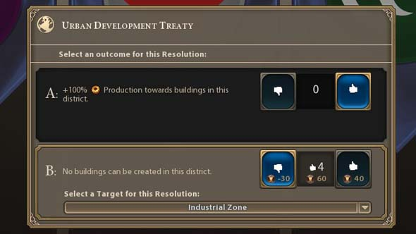 Civilization VI - Urban Development industry ban