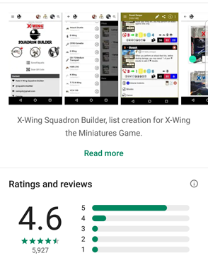 X-Wing 2nd ed - squad app