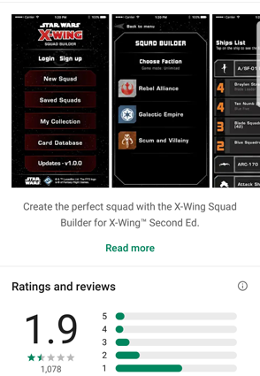 X-Wing 1sted - squad app