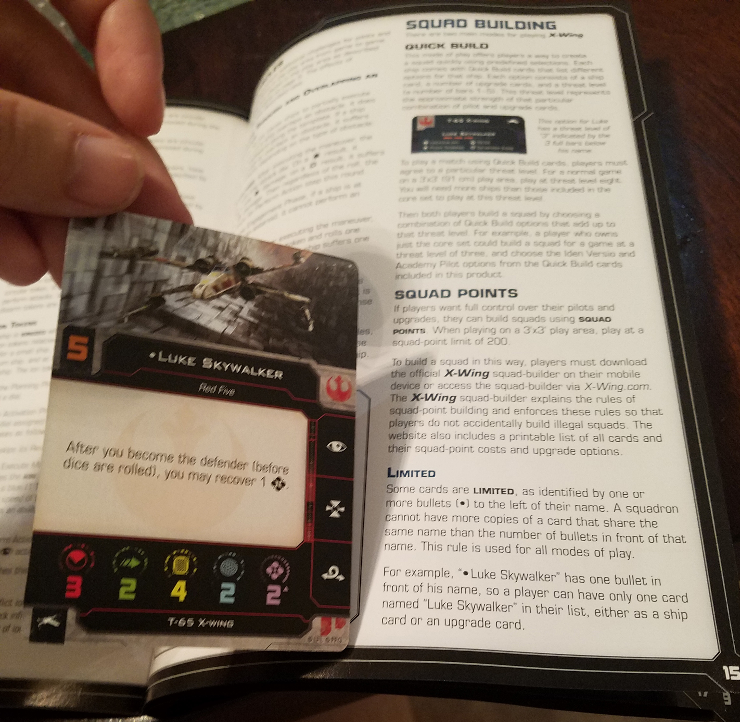 X wing miniatures 1.0  Complete T-65 x-wing ship cards upgrades. tokens dials