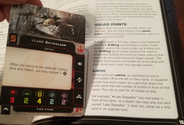 X-Wing 2nd ed - squad points