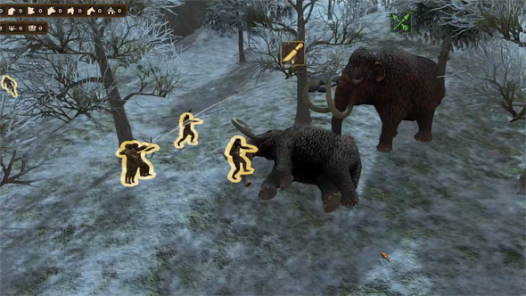 Dawn of Man - hunting a mammoth