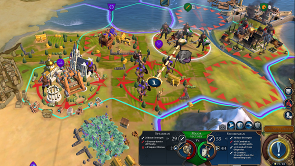 Civilization VI - levied units attack