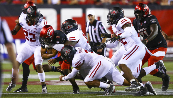 Arkansas State @ UNLV - Armani Rogers tackled