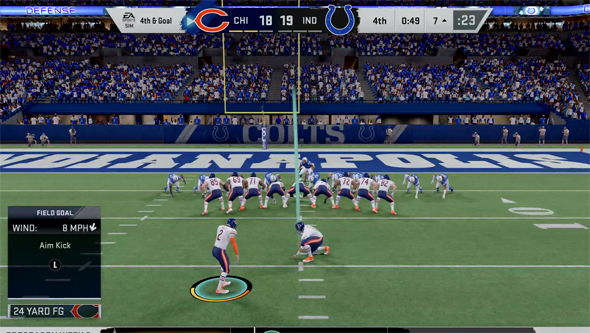 Madden 20 - invisible kick meter bug