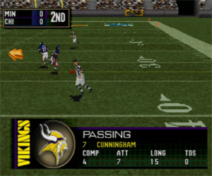 Madden 2000 - spotting ball