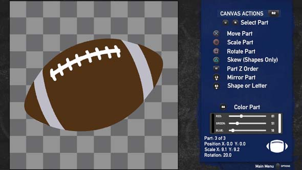 Doug Flutie's Maximum Football 2020 - logo editor