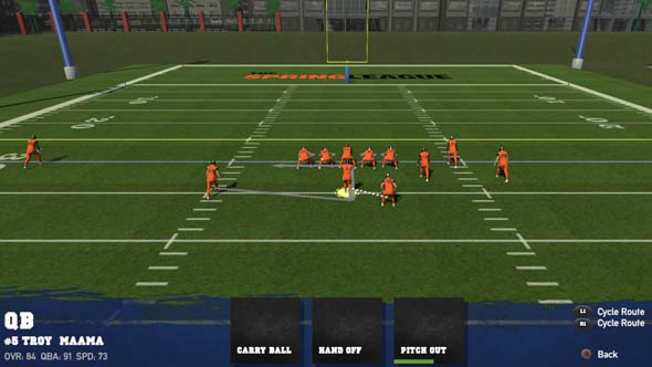 Doug Flutie's Maximum Football 2020 - CN play designer