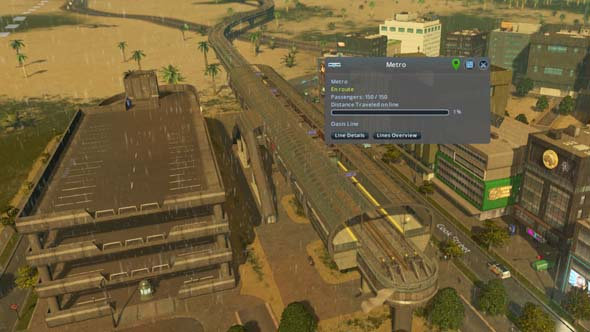 Cities Skylines Sunset Harbor - elevated metro
