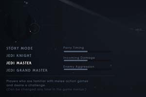 Jedi Fallen Order - difficulty settings