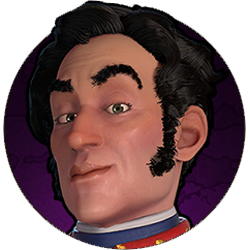 Civilization VI - Simon Bolivar portrait