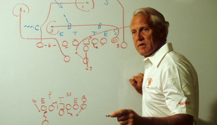Bill Walsh chalk board