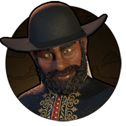 Civilization VI - Menelik II portrait