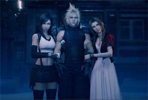 Final Fantasy VII Remake - Aerith and Tifa afraid of ghosts