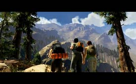 Grand Theft Auto V - hiking in the mountains