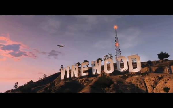 Grand Theft Auto V - Vinewood sign