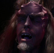 Star Trek: Enterprise - Klingon being transformed by augment virus