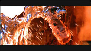 The T-1000's death in Terminator 2: Judgement Day