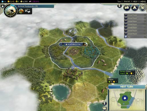 Just like any other game of Civ V, until you click 'Next Turn'