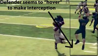 NCAA 12 hovering interception