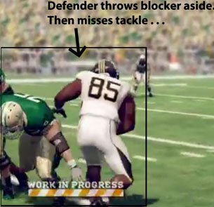 NCAA 12 defender throwing blocker