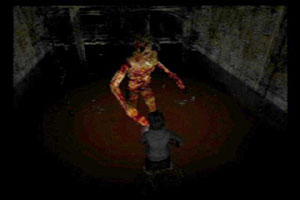 Boss fight with Leonard in Silent Hill 3