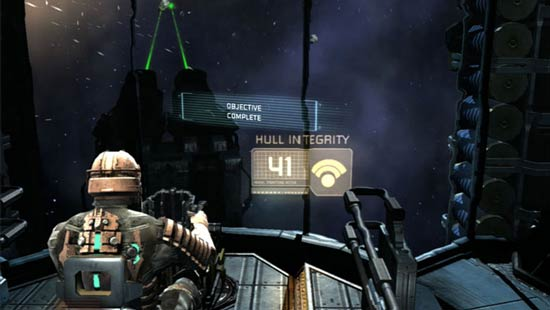 Dead Space asteroid shooter segment