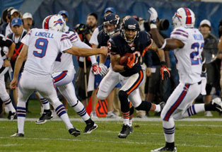 Bears 10, Bills 3 - Johnny Knox returns a 70-yard kick return