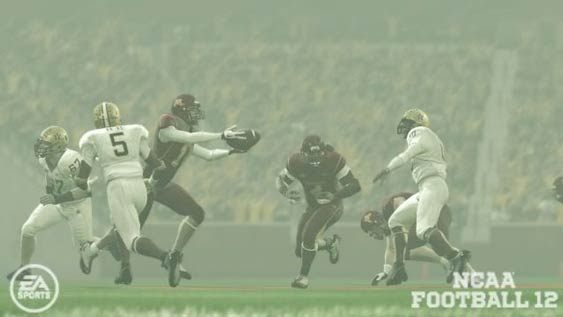 NCAA Football 12 - Option pitch intercepted.