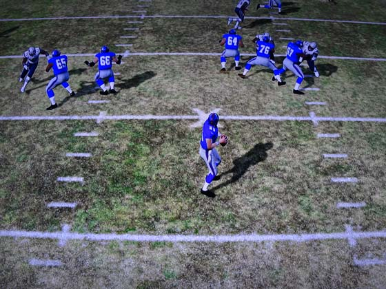 Madden NFL 12 - pass blocking.