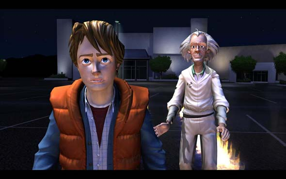 Back to the Future: The Game - lying to young Emmet