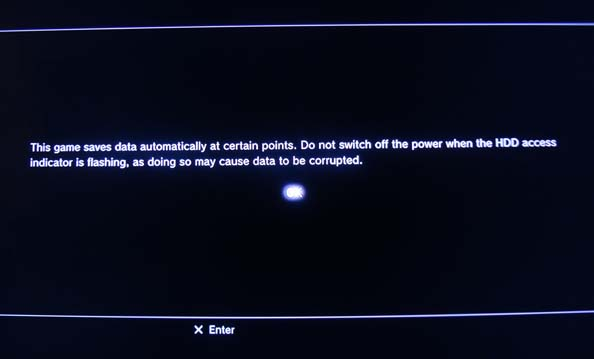 PS3 auto-save prompt