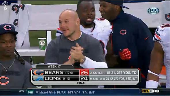 Chicago Bears 26 - Detroit Lions 24 - Brian Urlacher on sideline