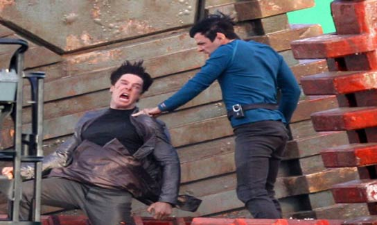 Star Trek 12 - Benedict Cumberbatch battling Spock