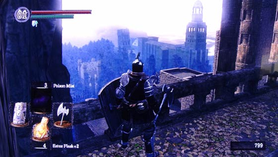 Dark Souls - view from Sen's Fortress